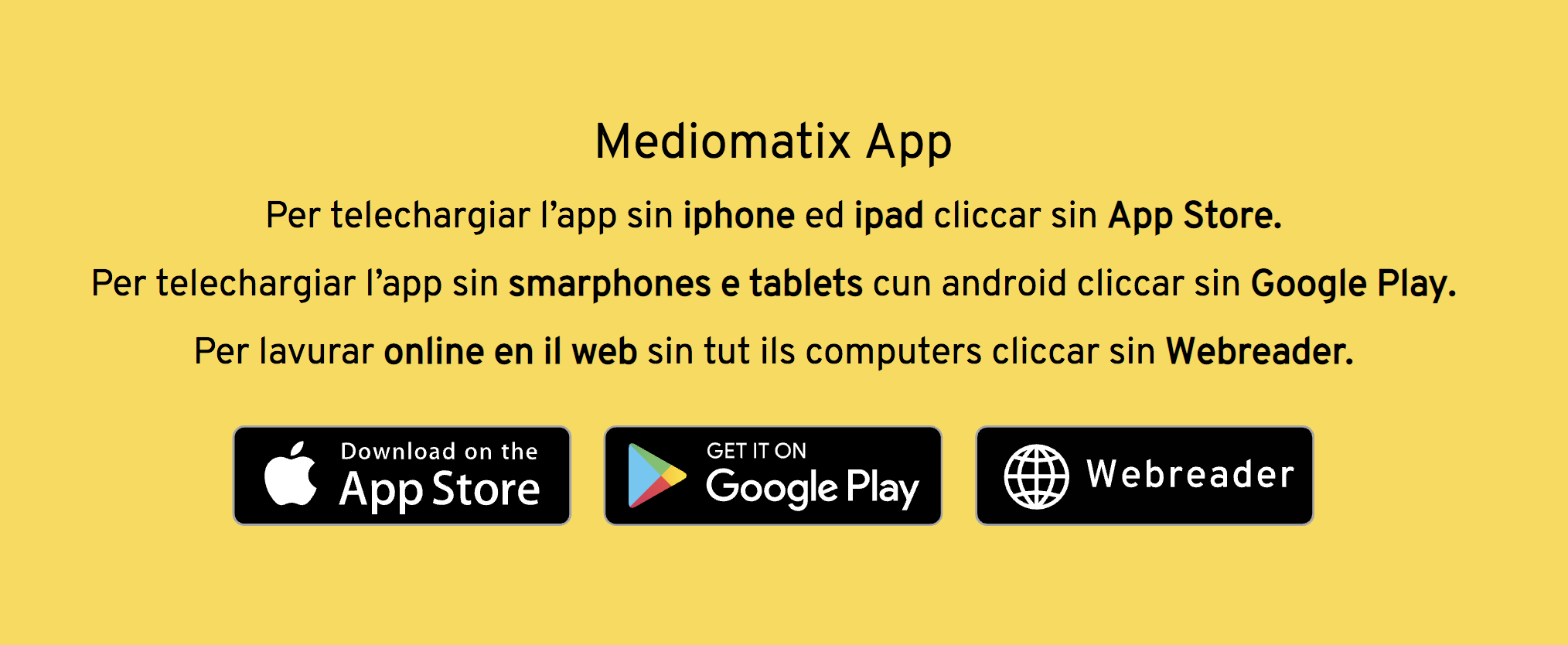 Laden Sie jetzt Mediomatix herunter. Mediomatix ist für iOS, Android und den PC verfügbar.